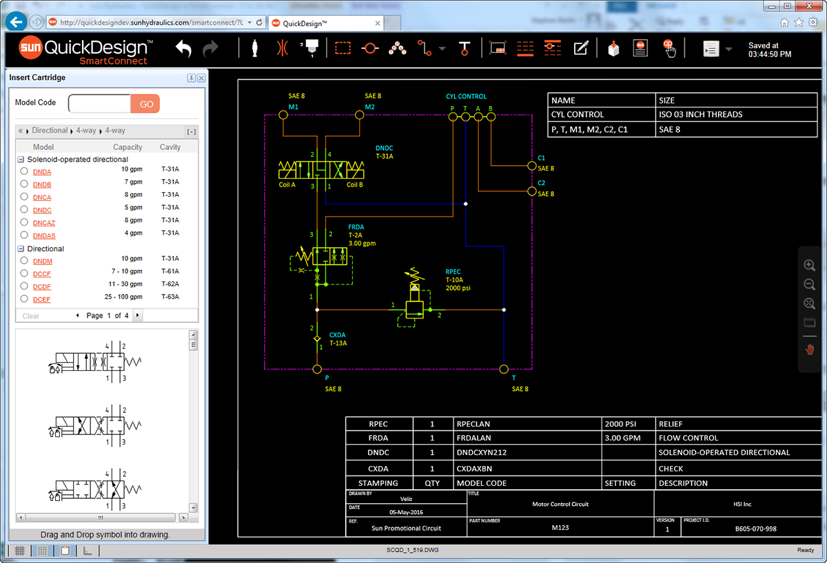 Free Fluidpower Schematic Design Software Fluid Power Pro Circuit Simulator For Mac Os X Sun Quickdesign Screenshot