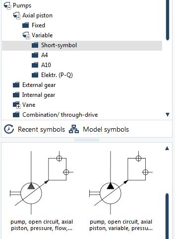 Hydraulic symbols example